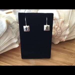 "Vintage Sterling Silver Earrings Marked DANNI 1"""